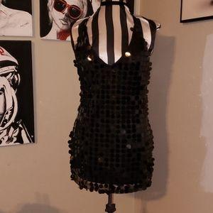 Sequin mini dress LBD Halloween sexy